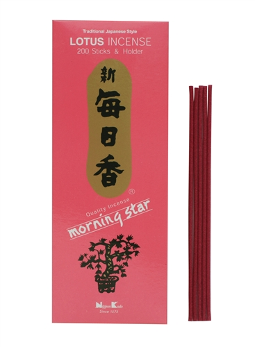 LOTUS 200 STICKS MORNING STAR TRADITIONAL JAPANESE STYLE