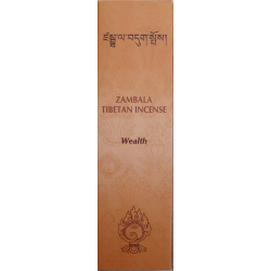 ZAMBALA-ABUNDANCIA TIBETAN WEALTH INCENSE 20 STICKS & INCENSARIO 20 grs.
