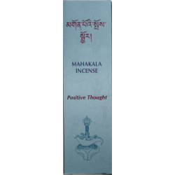 MAHAKALA INCENSE - POSITIVE THOUGHT 20 TIBETAN INCENSE STICKS & INCENSARIO 20 GRS