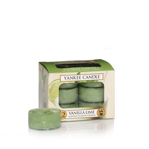 VANILLA LIME YANKEE CANDLE 12 SCENTED TEA LIGHT CANDLES