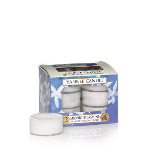 MIDNIGHT JASMINE - JASMIN DE MINUIT YANKEE CANDLE 12 SCENTED TEA LIGHT CANDLES